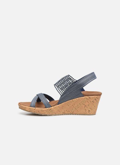 Sandali e scarpe aperte Skechers Beverlee High Tea Azzurro immagine frontale