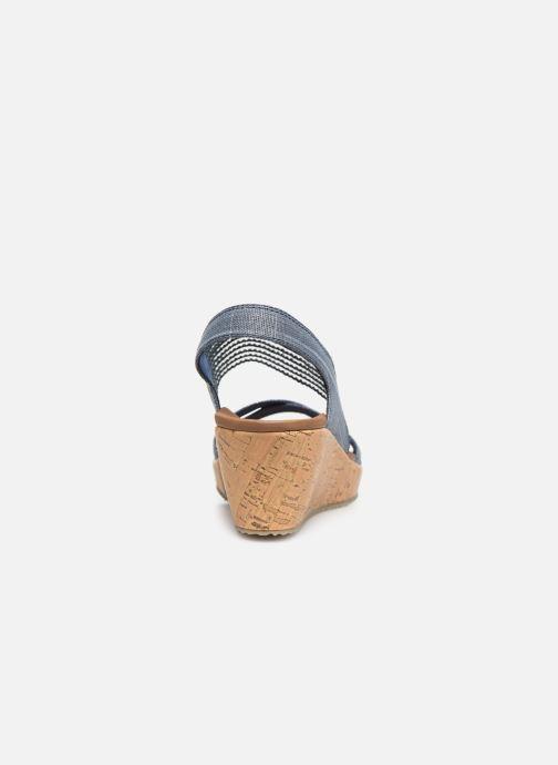 Sandales et nu-pieds Skechers Beverlee High Tea Bleu vue droite