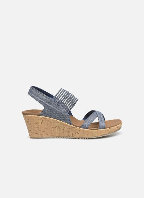 Sandales et nu-pieds Skechers Beverlee High Tea Bleu vue derrière