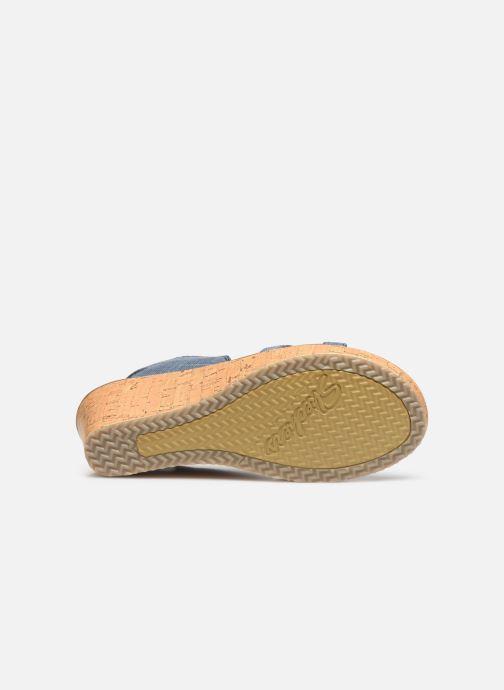 Sandales et nu-pieds Skechers Beverlee High Tea Bleu vue haut