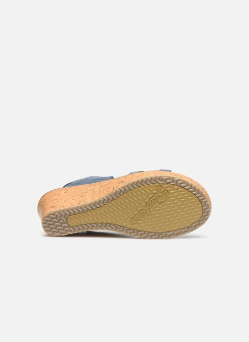 Sandali e scarpe aperte Skechers Beverlee High Tea Azzurro immagine dall'alto