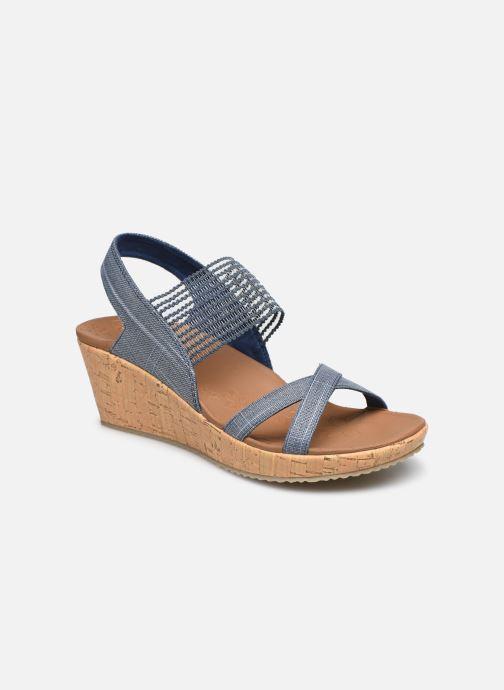 Sandales et nu-pieds Skechers Beverlee High Tea Bleu vue détail/paire