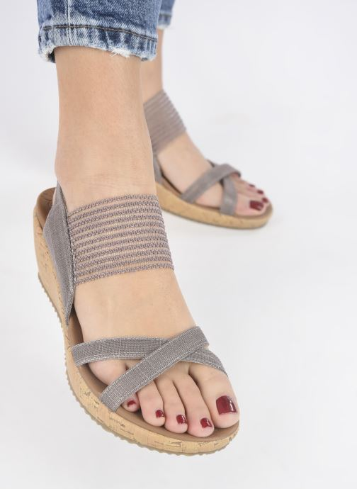Sandali e scarpe aperte Skechers Beverlee High Tea Argento immagine dal basso