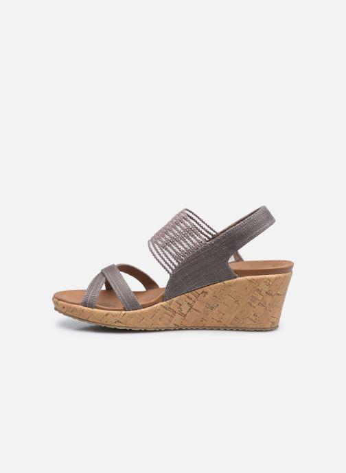 Sandali e scarpe aperte Skechers Beverlee High Tea Argento immagine frontale