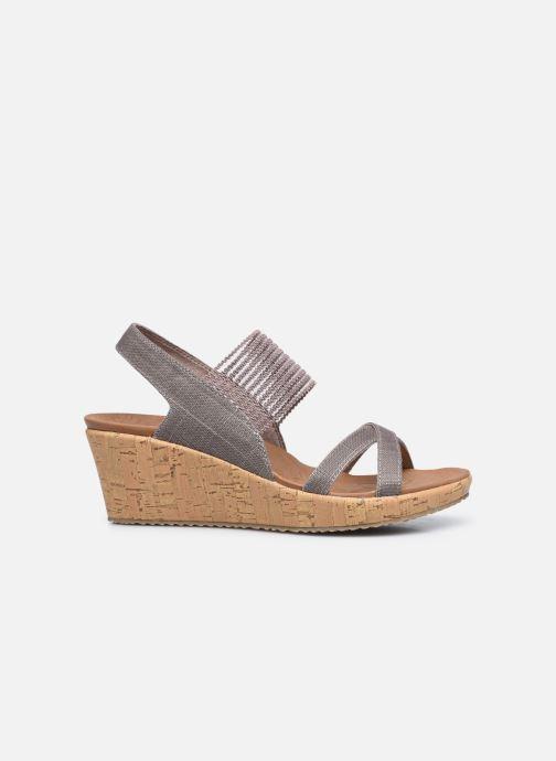 Sandali e scarpe aperte Skechers Beverlee High Tea Argento immagine posteriore