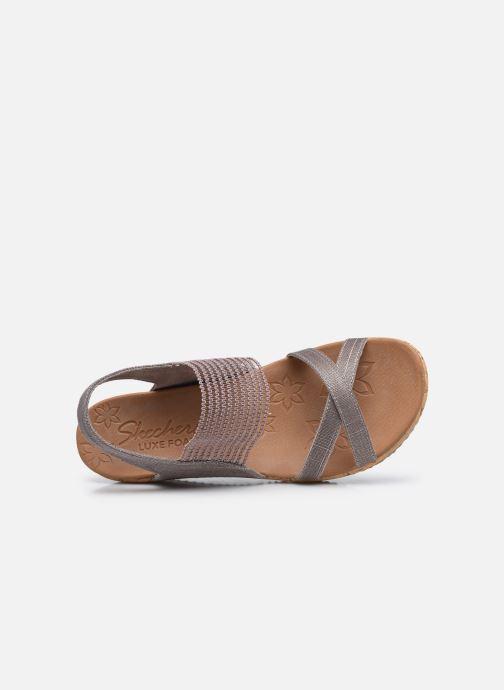 Sandali e scarpe aperte Skechers Beverlee High Tea Argento immagine sinistra