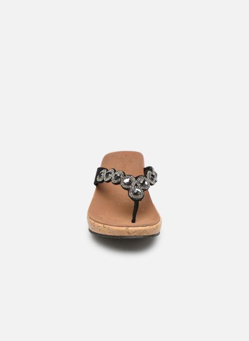 Sandales et nu-pieds Skechers Beverlee Noir vue portées chaussures