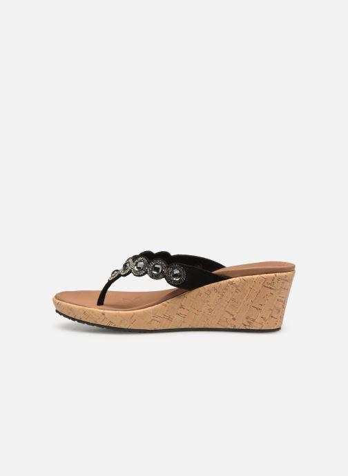 Sandales et nu-pieds Skechers Beverlee Noir vue face