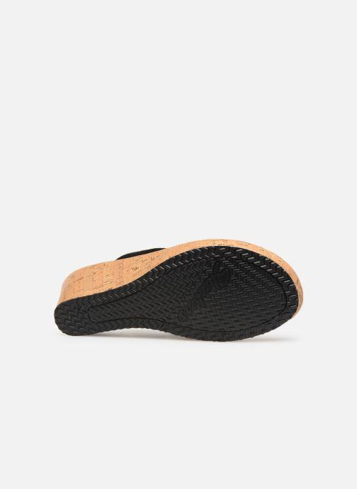 Sandales et nu-pieds Skechers Beverlee Noir vue haut