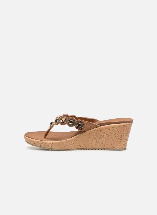 Sandales et nu-pieds Skechers Beverlee Marron vue face