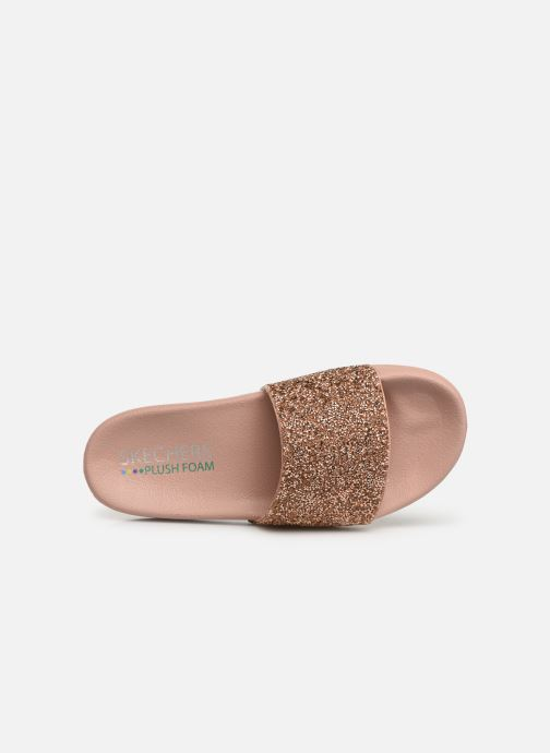 Mules & clogs Skechers Pop Ups Pink view from the left