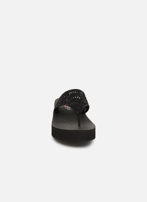 Tongs Skechers Vinysa Glass Star Noir vue portées chaussures