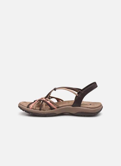 Sandales et nu-pieds Skechers Reggae Slim Marron vue face