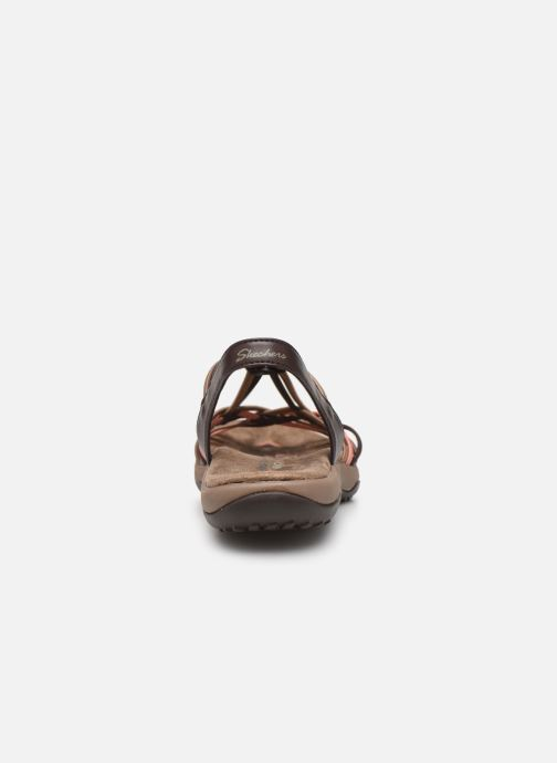 Sandales et nu-pieds Skechers Reggae Slim Marron vue droite