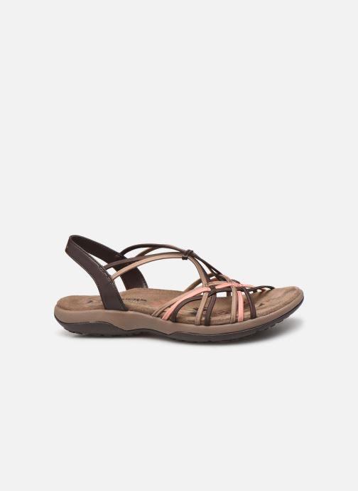 Sandales et nu-pieds Skechers Reggae Slim Marron vue derrière