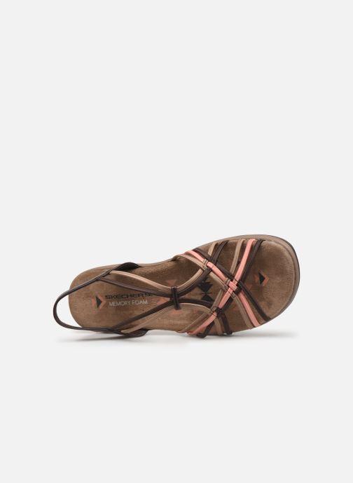 Sandales et nu-pieds Skechers Reggae Slim Marron vue gauche