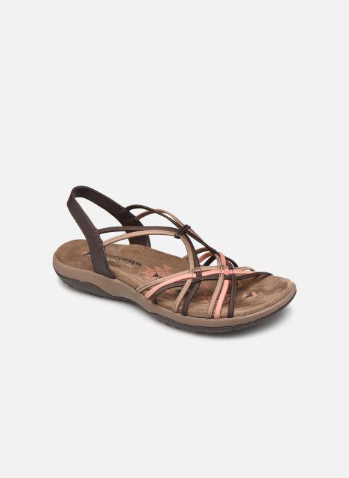 Sandales et nu-pieds Skechers Reggae Slim Marron vue détail/paire