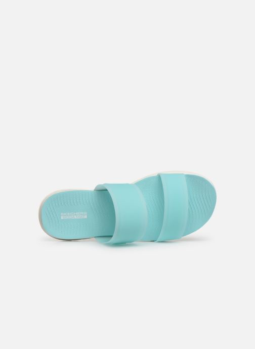 Zuecos Skechers Nextwave Ultra Sun-Kissed Azul vista lateral izquierda