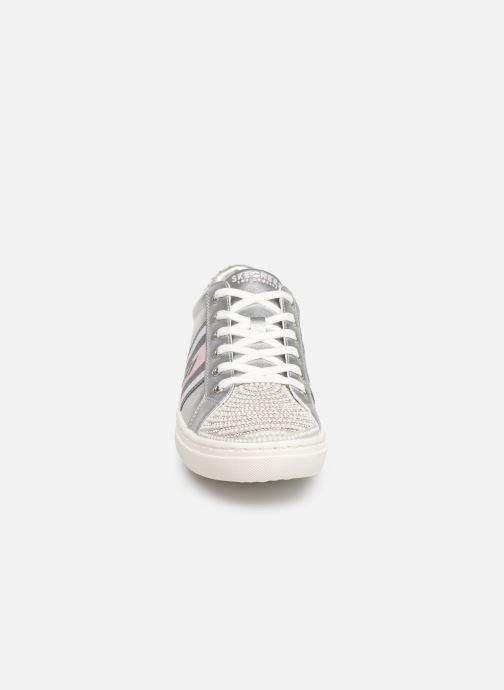 Baskets Skechers Goldie Diamond Jubilee Argent vue portées chaussures