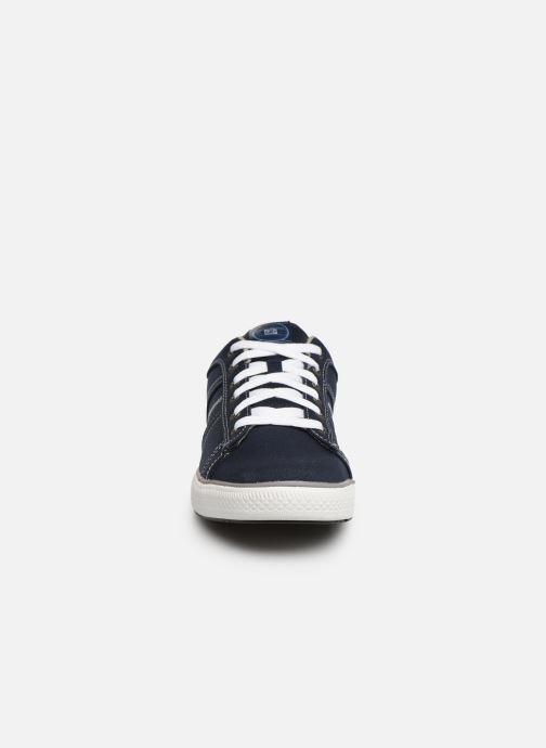 Sneaker Skechers Arcade Fulrow blau schuhe getragen
