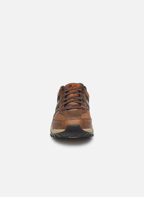 Baskets Skechers Henrick Delwood Marron vue portées chaussures