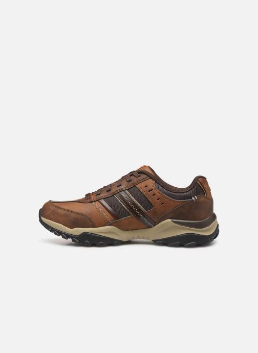 Sneakers Skechers Henrick Delwood Bruin voorkant