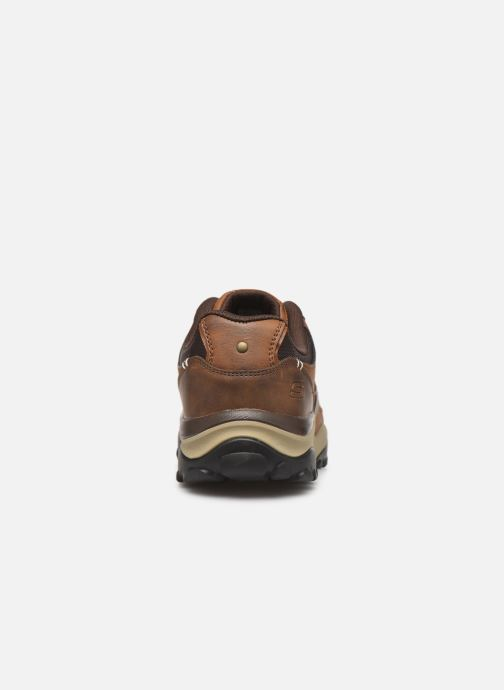 Baskets Skechers Henrick Delwood Marron vue droite