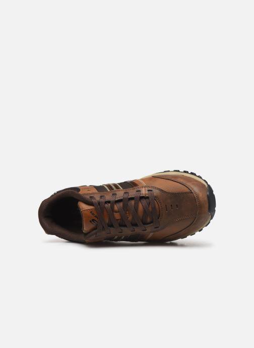 Sneaker Skechers Henrick Delwood braun ansicht von links