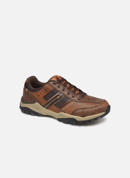 Sneakers Skechers Henrick Delwood Bruin detail