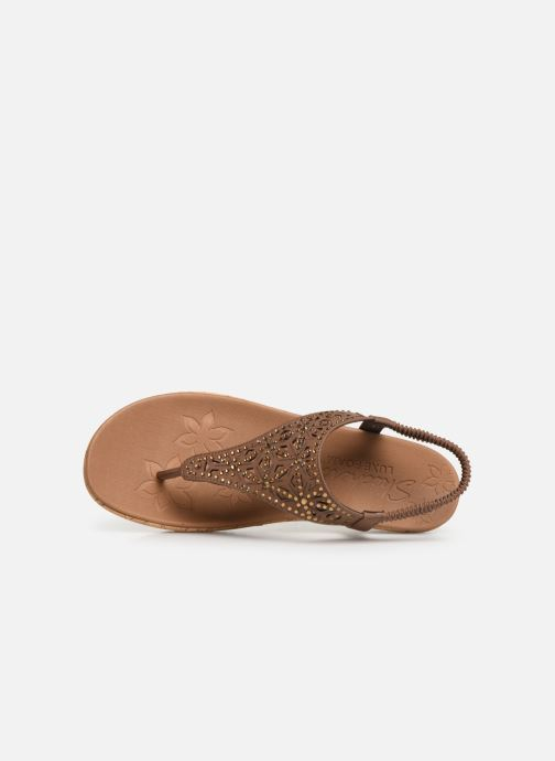 Sandals Skechers Brie Brown view from the left
