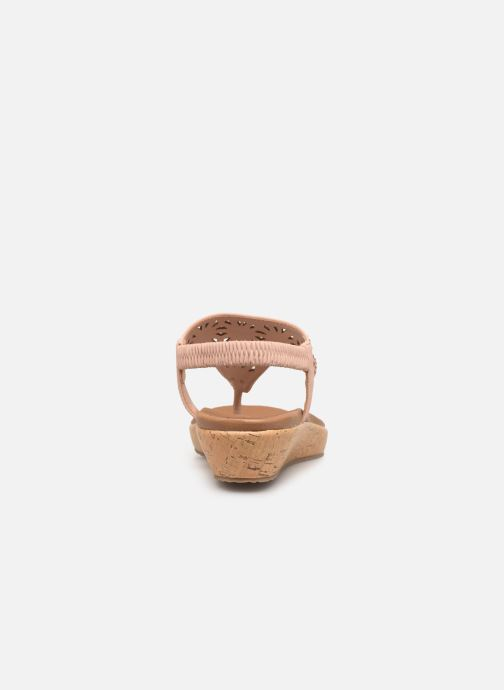 Sandales et nu-pieds Skechers Brie Rose vue droite