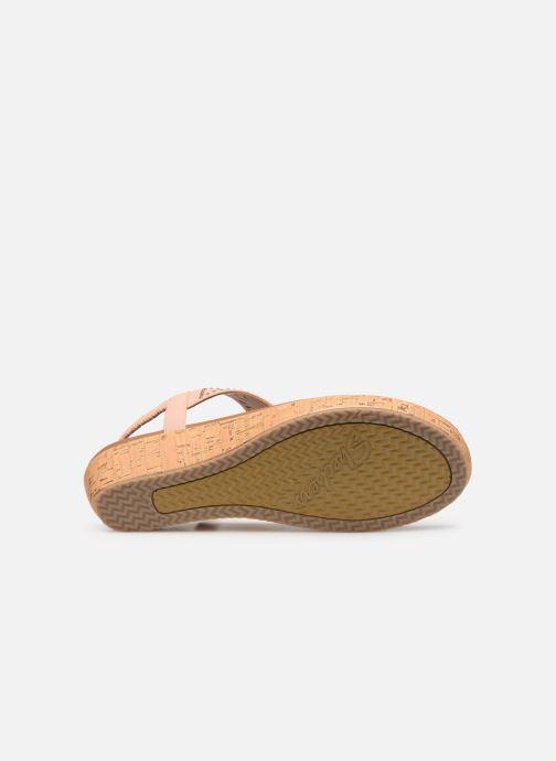 Sandales et nu-pieds Skechers Brie Rose vue haut