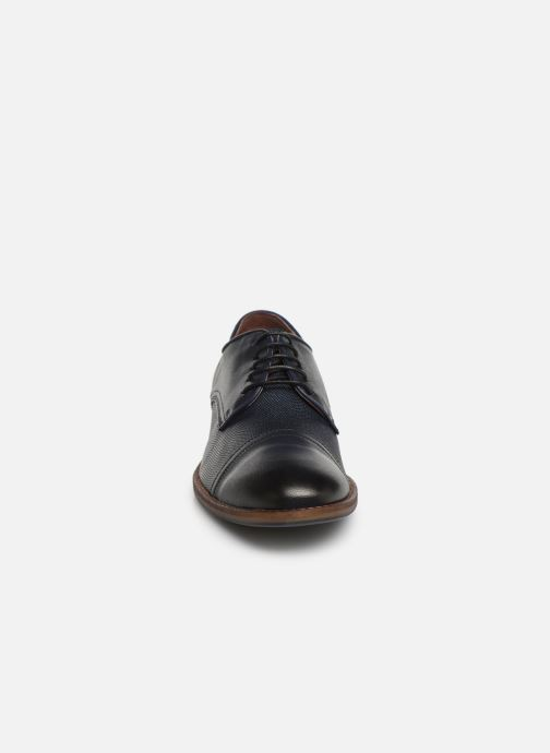 Lace-up shoes Mustang shoes Irwan Blue model view