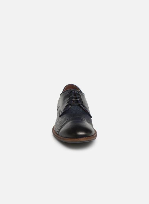 Chaussures à lacets Mustang shoes Irwan Bleu vue portées chaussures