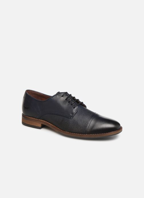 Lace-up shoes Mustang shoes Irwan Blue detailed view/ Pair view