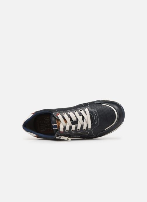 Sneaker Mustang shoes Doro blau ansicht von links