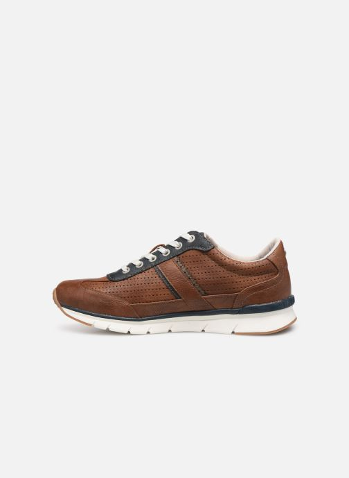 Baskets Mustang shoes Naym Marron vue face