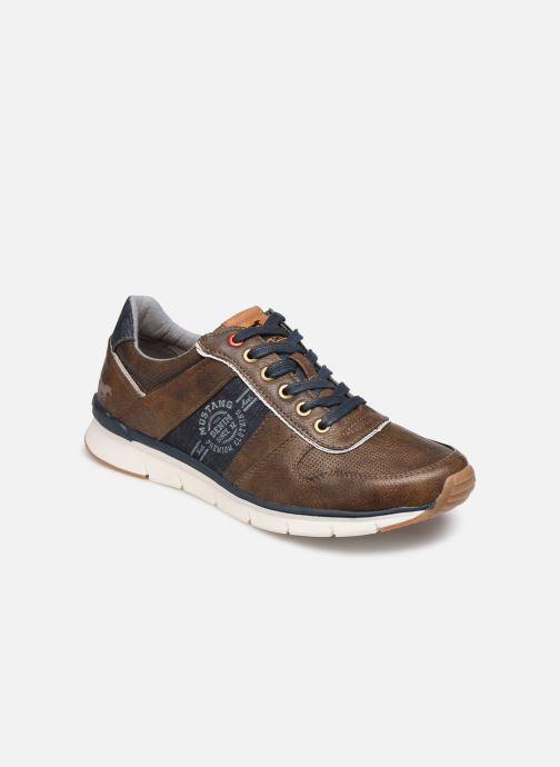 Trainers Mustang shoes Noha Brown detailed view/ Pair view