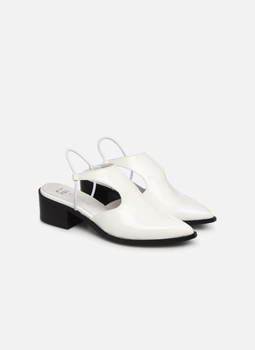 Sandals E8 by Miista TYRA White 3/4 view