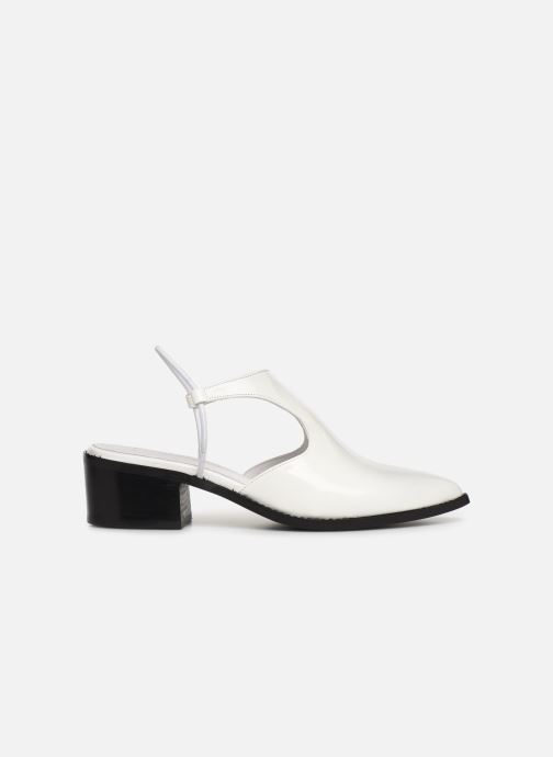 Sandals E8 by Miista TYRA White back view