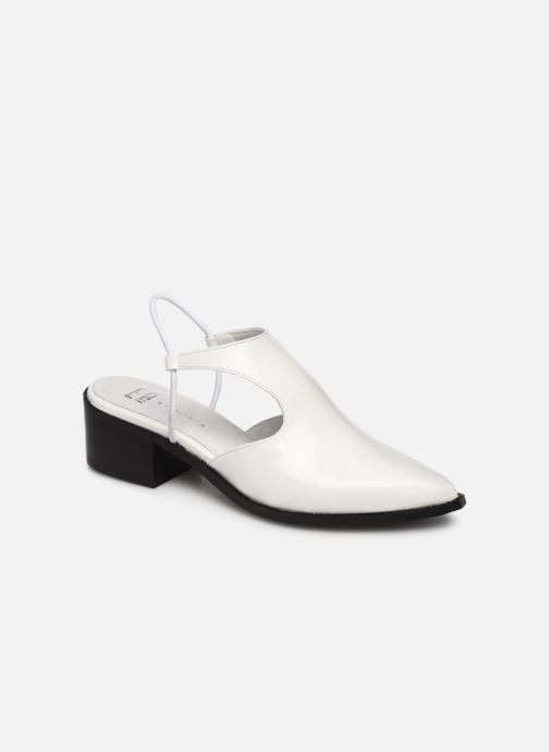 Sandals E8 by Miista TYRA White detailed view/ Pair view