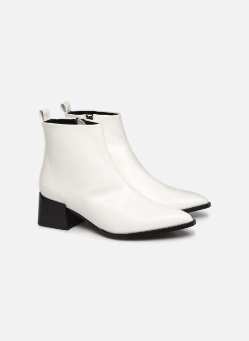Ankle boots E8 by Miista ELIN White 3/4 view