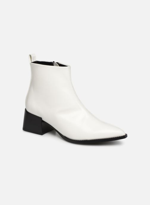 Ankle boots E8 by Miista ELIN White detailed view/ Pair view