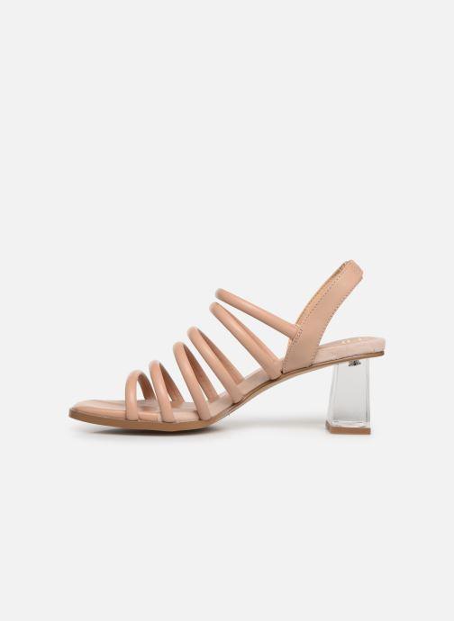 Sandals E8 by Miista CLARISA Beige front view