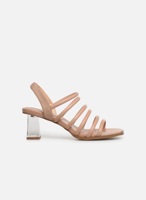 Sandals E8 by Miista CLARISA Beige back view