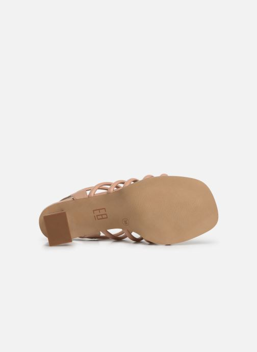 Sandals E8 by Miista CLARISA Beige view from above