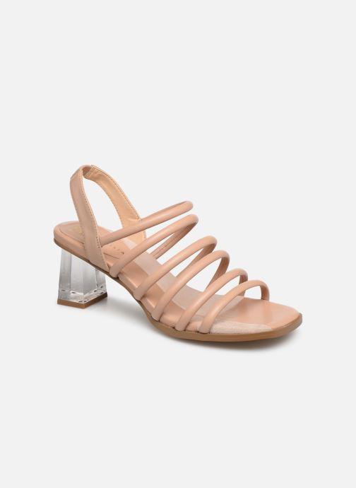 Sandals E8 by Miista CLARISA Beige detailed view/ Pair view