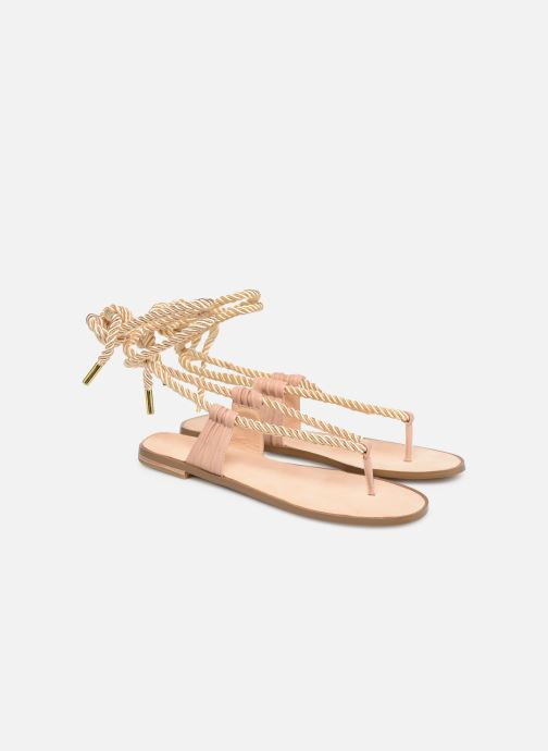 Sandals E8 by Miista ISIDORA Bronze and Gold 3/4 view