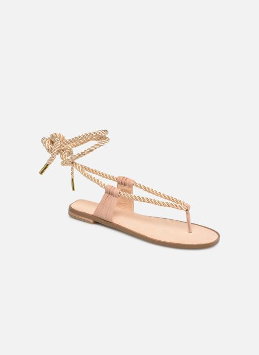 Sandals E8 by Miista ISIDORA Bronze and Gold detailed view/ Pair view