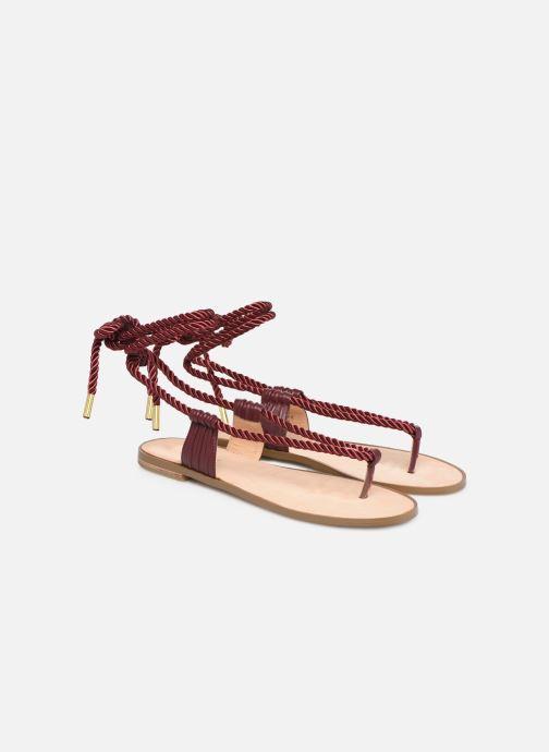 Sandales et nu-pieds E8 by Miista ISIDORA Bordeaux vue 3/4